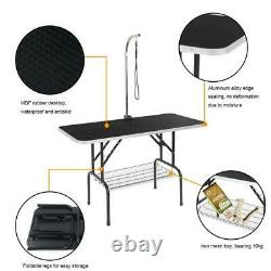 48'' Portable Foldable Pet Dog Grooming Table Professional with Mesh Tray US