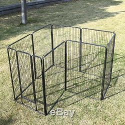 4 Size Tall 8 Panel Dog Metal Playpen Adjustable Pet Exercise Fence Kennel Pen