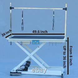 50'' Folding Dog Pet Grooming Bath Electric & Lift Table Adjustable Height Arm