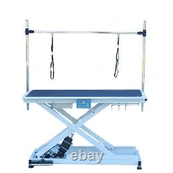 50 Heavy Duty Hydraulic Lift Pet Dog Grooming Table Adjustable X Arms 2 Leash