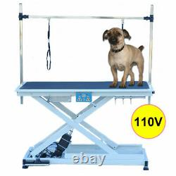 50 Portable Pet Dog Grooming Table Foldable Adjustable Electric & Lift Table