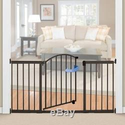 6 Ft Wide Extra Tall Gate Walk Safety Expansion Door Bronze Pet Dog Baby Metal