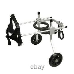 ANMASBOX Size For Large Adjustable 2-wheel Stainless Steel Cart Pet/Cat Dog W