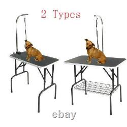 Adjustable 32/36/48 Foldable Pet Dog Cat Summer Grooming Table Tray 4 Types