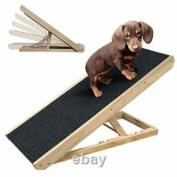 Adjustable 40 Long Pet Ramp for All Dogs and Cats for Couch or Bed with Paw