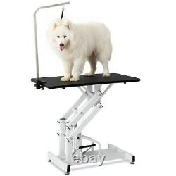 Adjustable 46 Foldable Pet Dog Cat Grooming Table with Adjustable Arm & Noose