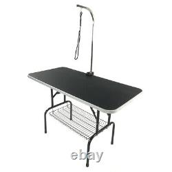 Adjustable Arm 48 Foldable Pet Dog Cat Summer Grooming Table Tray with Noose