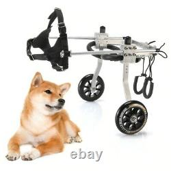 Adjustable Dog Wheel Chair For Disabled Dogs Back Legs Foldable Scooter For Pets