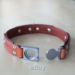 Adjustable Leather Dog Collar Personalized (Pet's Name and Phone Number) X-Large