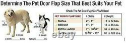 Adjustable Pet Patio Door For Dog Cat 5 X 7 Flap Sliding Glass White Small New