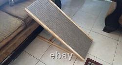 Adjustable Pet Ramp 40 Dog Cat Stairs Folding Paw Ladder Wood Alpha Steps Bed