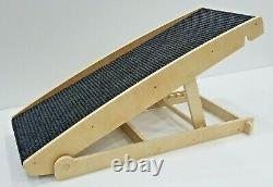 Adjustable Pet Ramp for Dogs and Cats up to 250lb -for Couch or Bed -Made in USA