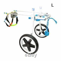 Adjustable Pet Wheelchair Handicapped Hind Legs Dog Wheel Chair with Free Leash