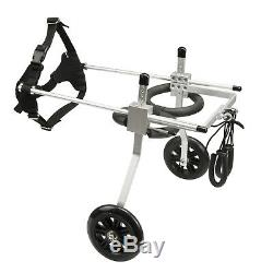 AnmasBox New Adjustable LARGE 2-Wheel Pet Wheelchair Dog & Cat Handicapped Tool