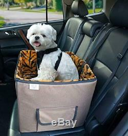 Arf Pets Pet Car Seat, Dog Booster Safety Seat with Adjustable Straps, Solid Foa