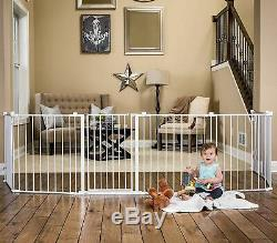 BABY PET DOG EXTRA Wide Safety Metal Gate Playpen Indoor-Outdoor Child Fence NEW