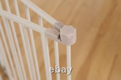 Baby Dog Safety Gate Walk-Thru Adjustable Durable 38 Inch Extra Tall with Pet Door
