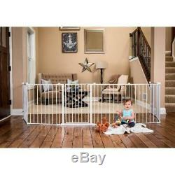 Baby Pet Dog Extra Wide Safety Metal Gate Play Yard Indoor Outdoor Child Fence