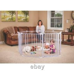 Baby Pet Dog Extra Wide Safety Metal Gate Playpen Indoor Outdoor Child Fence