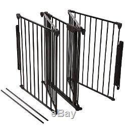 Baby Safety Gate Fireplace Fence Hearth Door Extra Wide Metal Child Pet Dog Cat