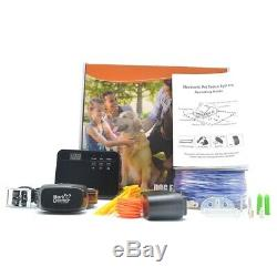 Bark Doctor Electronic Invisible Pet Dog Fence 100% Rechargeable Collar Receiver