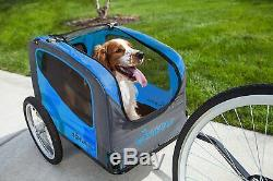 Bike Pet Trailer For Small Dogs Up to 50lbs Ride Bicycle Adjustable Sunshade