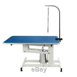 Blue Pet Dog Cat Adjustable Heavy Hydraulic Grooming Cleaning Clean Table Desk