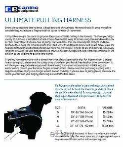 Canine Weight Pull Black Harness Dog Equipment Pet Outdoor Sport Safety Shackle