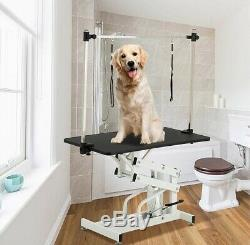 Cat Dog Adjustable Pet Grooming 43 Hydraulic Folding Arm Noose Mesh Tray Table