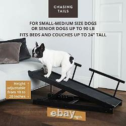 Chasing Tails Dog Ramp for Bed Pet Ramp for Small/Large Dogs Sturdy