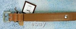 Coach Brown Smooth Leather Round Grommets Dog Pet Collar Size Extra Large 8848