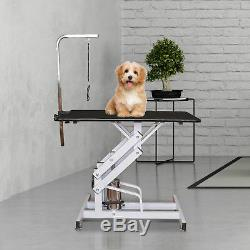 Deluxe Professional Z Lift Hydraulic Pet Dog Grooming Table with Arm