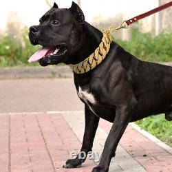 Dog Choker Chain Gold Stainless Steel Heavy Duty Pet Dog Training Collar 5Sizes