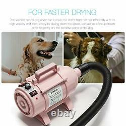 Dog Dryer Pet Hair Dryer 4.0HP Stepless Adjustable Speed Pet Blower With Heater