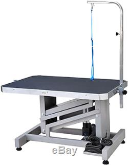 Dog Grooming Lift Table Electric Motor Arm Professional Work Pet Large Surface