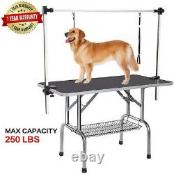 Dog Grooming Table Foldable with Large Adjustable Arm/Noose Black 36 Portable Pet