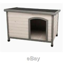 Dog House Flat Roof Club Adjustable Legs Pet Care House Removable Floor Home