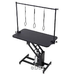 Dog Pet Grooming Table Portable Adjustable Arm & Noose Make up Z-Lift Hydraulic