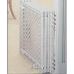 Dog Puppy Extra Wide Adjustable Pet Gate Wall Mounted Easy One-Handed Operation
