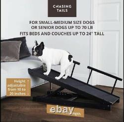 Dog Ramp for Bed Pet for Small/Large Poppies Adjustable Height from 10 to 20