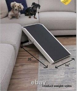 DoggoRamps- Dog Ramp 4 Adjustable Heights Bed/Couch Pet Ramp 40 Folds