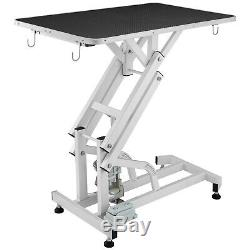 Electric Lifting Pet Dog Grooming Table 440LBS Non-Slip Safe Clamps Metal