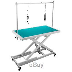 Electric Lifting Pet Dog Grooming Table 440Lbs Metal Adjustable Wear resistant