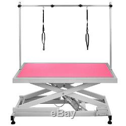Electric Lifting Pet Dog Grooming Table thick metal Shower Height Adjustable