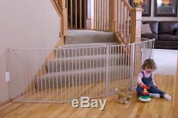 Extra wide gate baby play yard large metal fence infant kid pet dog safety panel