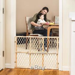 FREE SHIPPING Baby Dog Wooden Gate Position Lock Safety Child Pet Adjustable New