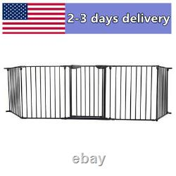 Fireplace Fence Baby Child Safety play Fence Hearth Gate Pet Dog Metal Fire Gate