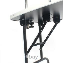 Folding Pet Dog Grooming Table Portable Adjustable withArm Noose Non-slip 220lbs