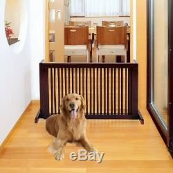 Free Standing Adjustable Folding 3 Panel Wood Puppy Pet Dog Cat Baby Fence Gate