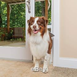 Freedom Aluminum Patio Panel Sliding Glass Pet Door For Dogs And Cats Adjustable